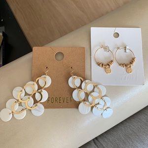 Set: H&M F21 earrings